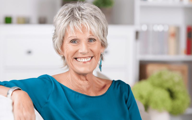 Silver Short Shag as an example for hairstyles for women over 50