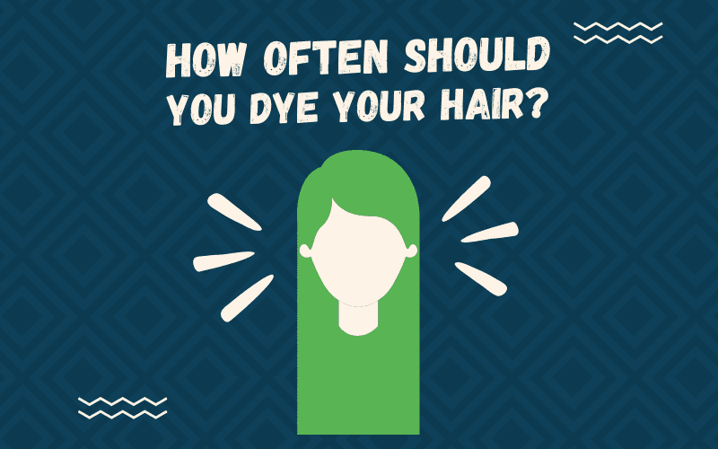 Image titled How Often Should You Dye Your Hair featuring a gal with blonde hair displayed on a blue background